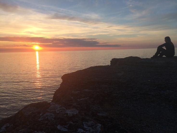 Solnedgång på Öland 2018