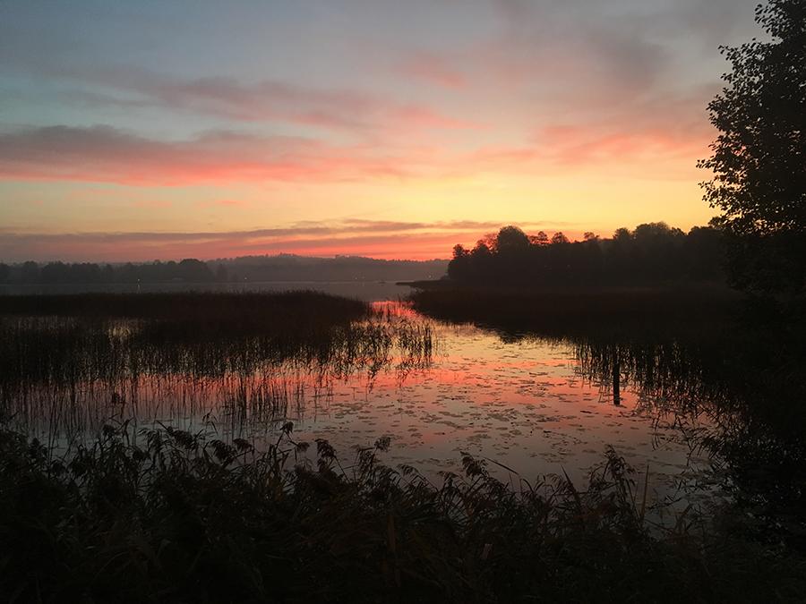 Ännu en morgon med fantastiskt morgonljus