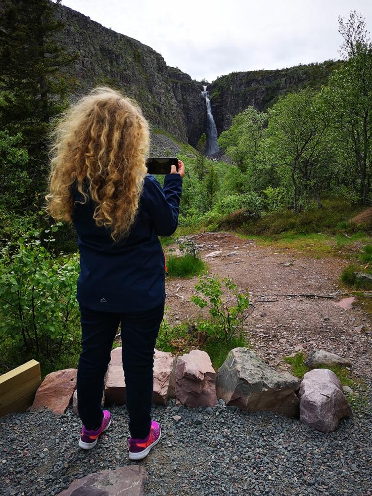 Utsikt från Njupeskärsstugan