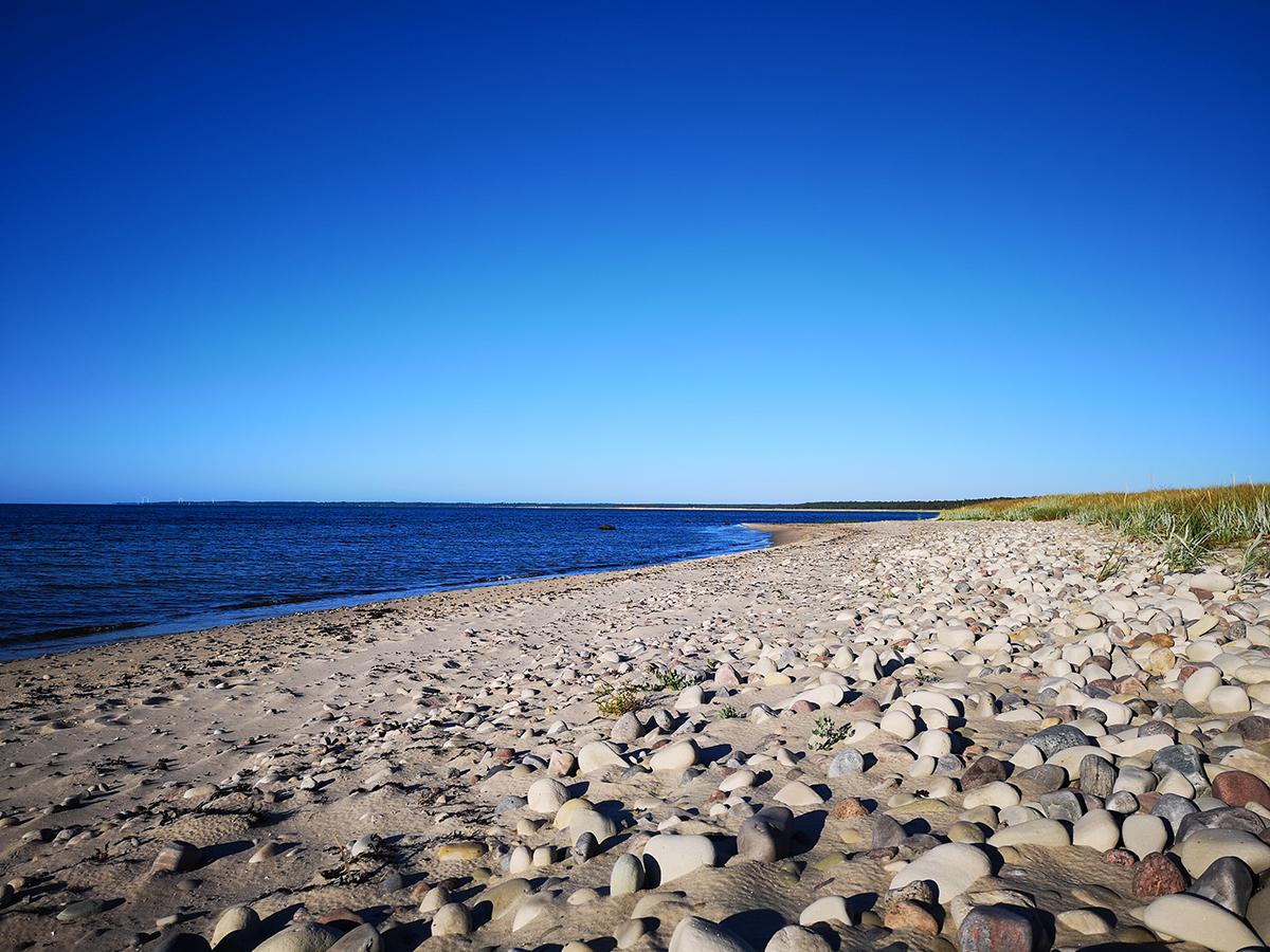 Det är sandstrand ända till Homrevet