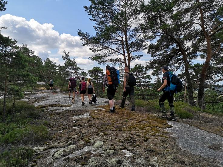 På väg uppför Lyseberget