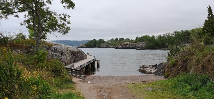 Här kommer man till badplatsen vid Stora Hult