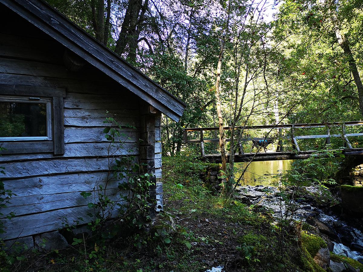 Stugan där vi sov i Vikskvarnens naturreservat